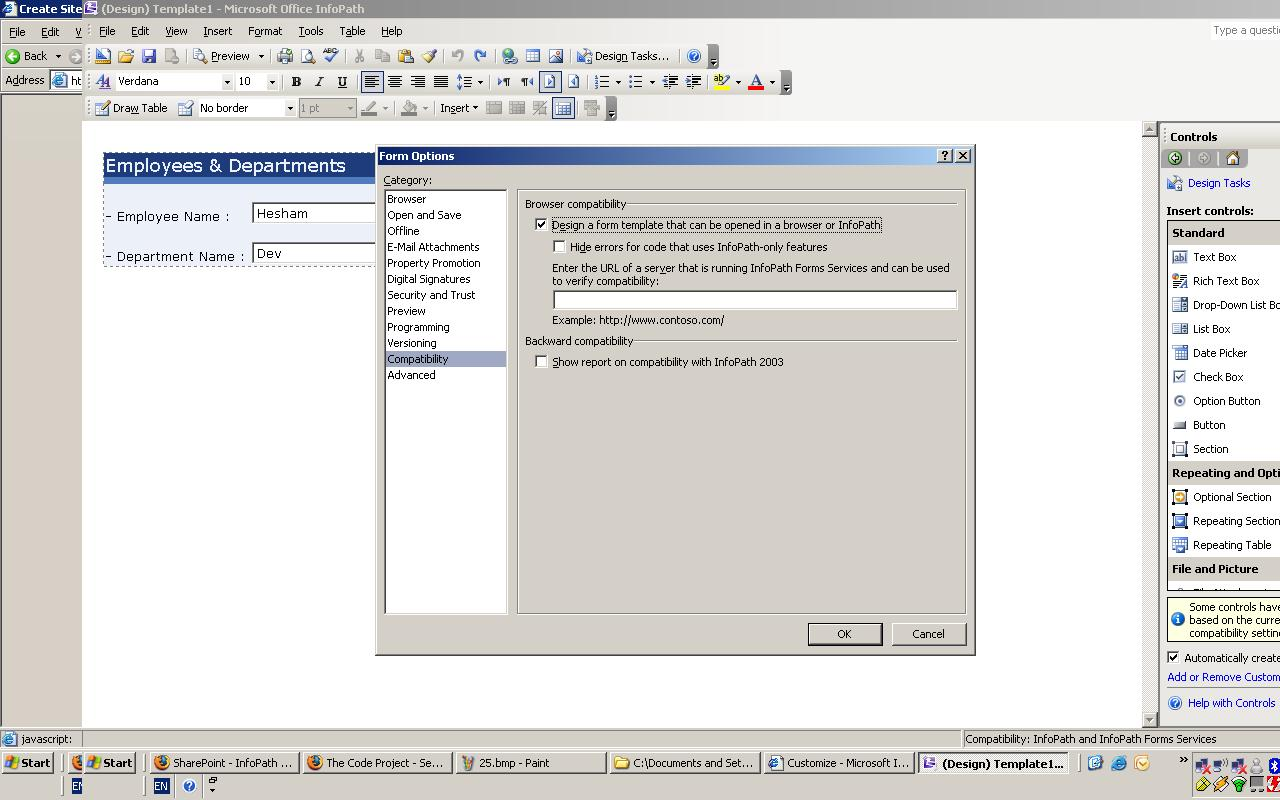 sharepoint 2007 browser compatibility